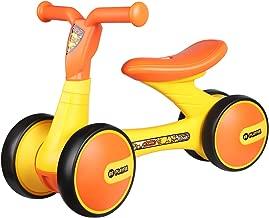 POCO DIVO B.Duck Toddler Balance Bike Baby Walker Children no-Pedal Bicycle Kids 4-Wheel Ride-on Toy - Orange