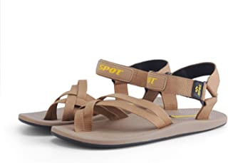 SPOT Sandals for Men with Adjustable Velcro Straps | Durable Design with Strong Grip | Series - SS-182