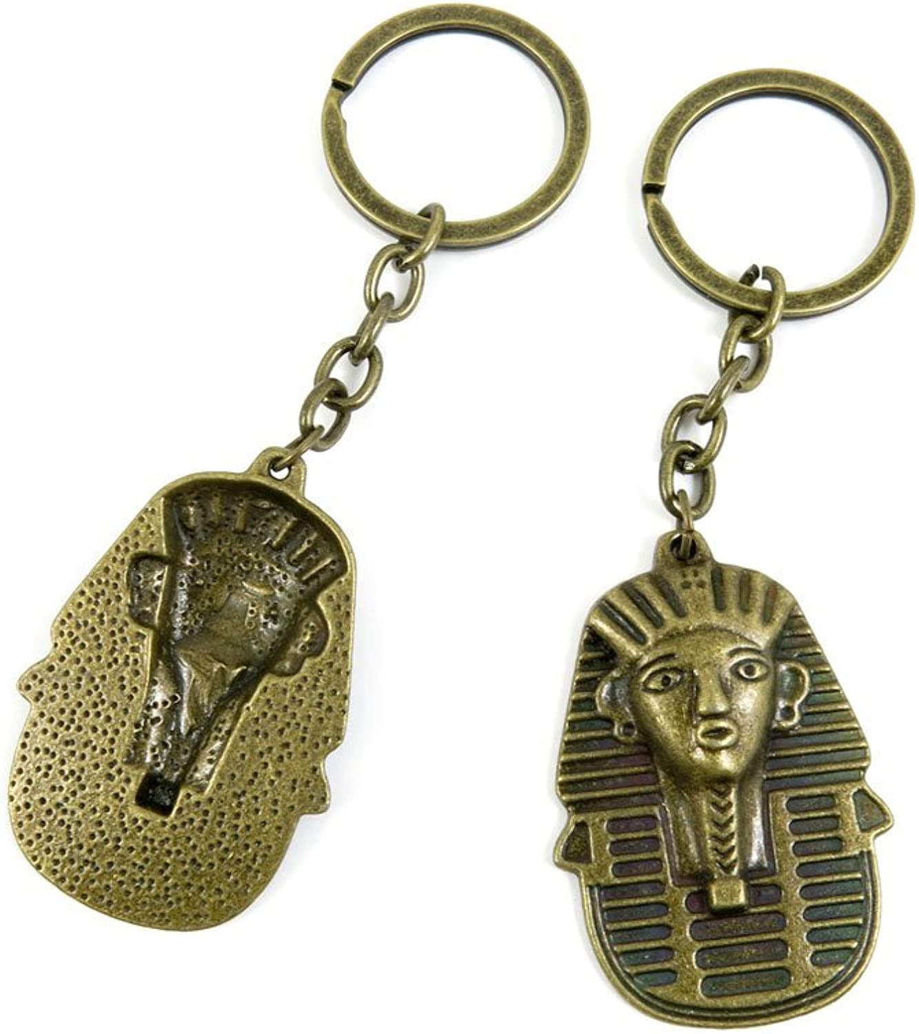 100 PCS Keyrings Keychains Key Ring Chains Tags Jewelry Findings Clasps Buckles Supplies I4WL8 Egypt King