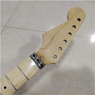 GUITAR NECK عكس الرأس 22 الحنق القيقب الغيتار الكهربائي استبدال القيقب الأصابع قفل الجوز لمعان