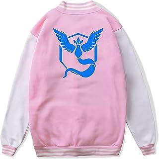 VJJ AIDEAR Pokemon GO Baseball Uniform Jacket Sport Coat Kids Long Sleeve Hoodie Sportswear Black