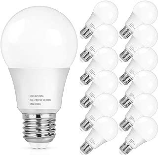 A19 LED Light Bulbs, 100 Watt Equivalent LED Bulbs, 3000K Warm White, 1100Lumens, Non Dimmable, Medium Screw Base (E26), CRI85+, 25000+ Hours Lifespan, No Flicker, Non-Dimmable, 12-Pack