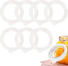20 Pieces Replacement Silicone Seals Leakproof Silicone Jar Sealing Gaskets Rings for Regular Glass Jars Gasket Sealing Rings Replacement Rubber Jar Seals Ring,Orange