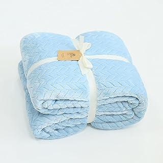 شفة اللون النقي بطانية جاكار المرجان المخملية بطانية غفوة غطاء تكييف الهواء بطانية Thejacquarskyisblue