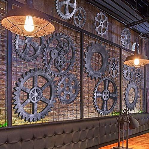 JE huishouden, meubels creatieve complete tandwielen, klok, wandversieringen, ornament, hanger, woonkamer, driedimensionale muur, wandversiering, wandachtergrond, wandhanger, retrostijl van industrieel