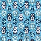 Strickjacquard aus recycelten Fasern Lustige Pinguine –