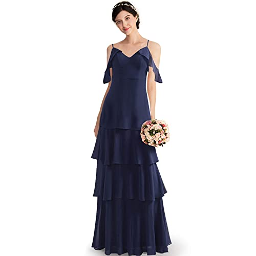73ad91a6e6e Ever-Pretty Womens Elegant Sleeveless Floor Length Ruffles Chiffon  Bridesmaids Dress 07201
