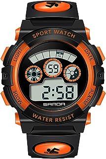 Boys, Girls Easy Read Digital Wrist Watches Sports Waterproof Orange Ages 4-16