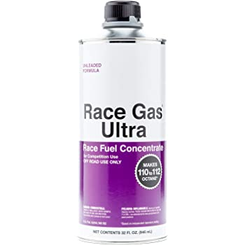 RaceGas Ultra 200032 Premium Unleaded Race Fuel Concentrate Increases Gasoline Up to 112 Octan, 6 Pack