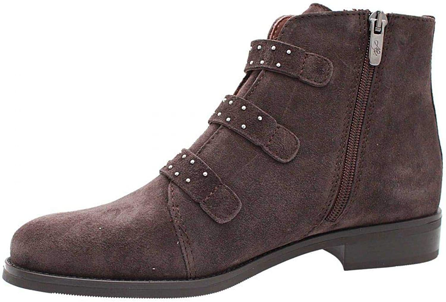 ALPE Suede Ankle Stiefel with Buckle Detail