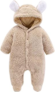 Fulision Unisex Baby Warm Cute Long Sleeve Autumn Winter Romper Jumpsuits Coat