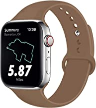 RUOQINI Compatible with Apple Watch Band 38mm 40mm 42mm 44mm,Sport Silicone Soft Replacement Band Compatible for Apple Watch Series 4/3/2/1