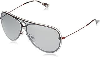 Ray-Ban 0rb3605n Non-Polarized Iridium Aviator Sunglasses, Red/Silver, 0 mm