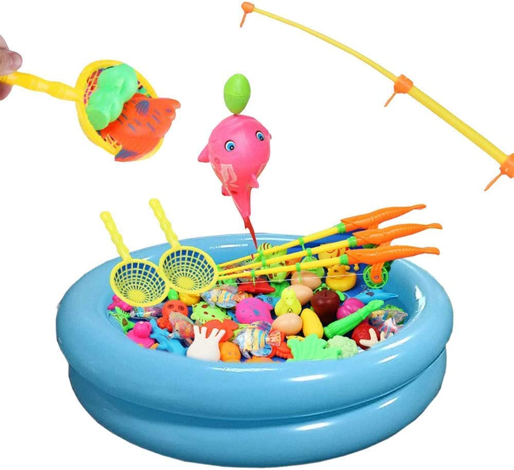 Topwon Inflatable Swimming Los Angeles Mall Pool Special price for a limited time Magnetic Fishing Toys Floati