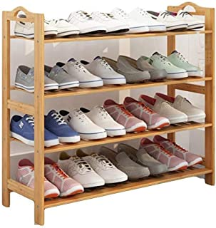 ZXJshyp Solid Wood Shoe Rack Shelves Rack,Shoe Tower Bamboo Living Room Office Kitchen Outdoor Shoe Organiser Shelf (Size...