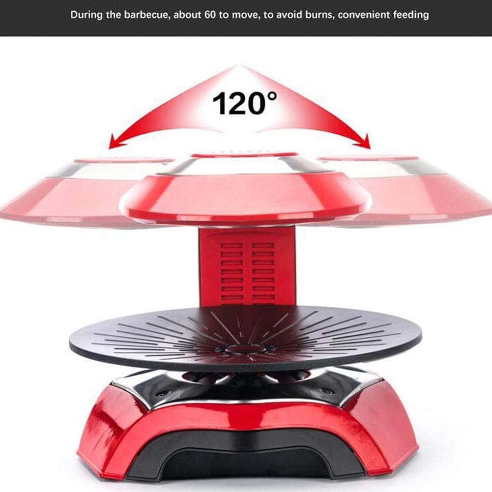 TYX-SS Barbecue Smart Infrared 3D Grill Électrique sans Fumée Lumière Vague Cuisinière Four Pan Hot Pot,Noir Black