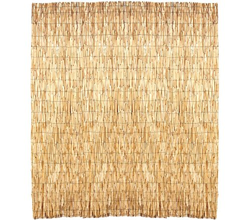 049897 Reja perimetral de bambú estera para sombrear 150 x 300 cm