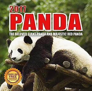 2017 Panda Calendar - 12 x 12 Wall Calendar - 210 Free Reminder Stickers