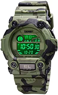 CakCity Boys Camouflage LED Sports Kids Watch Waterproof Digital Electronic Military Wrist Watches for Kid with Luminous Alarm Stopwatch Child Watches Ages 8-15