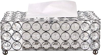 Sumnacon Rectangular Crystal Tissue Box Cover, Decorative Toliet Paper Box, Crystal Napkin Holder, Facial Tissue Holder fo...