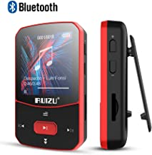 Clip Mp3 Player with Bluetooth 4.1 16GB Lossless Sound Music Player with FM Radio Voice Recorder Video Earphones for Running, Support up to 128GB(Red)