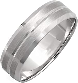 مجموعة دازلينج روك 14K للرجال خواتم تقليدية مناسبة للزواج بلمسة نهائية مصقولة ولامعة.