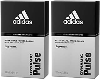 Adidas Dynamic Pulse Aftershave for Men, 3.4 Ounce, 2 Count