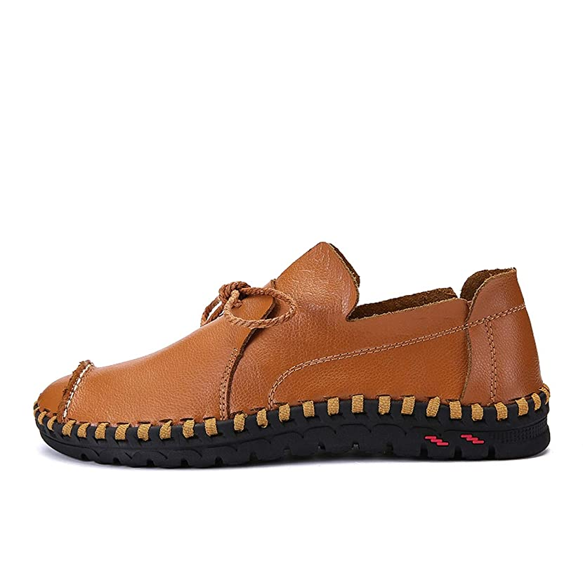 Male Leather Shoes Flats Men Lace Up Lofers Moccasins Men Casual Shoes Adult Men Footwear