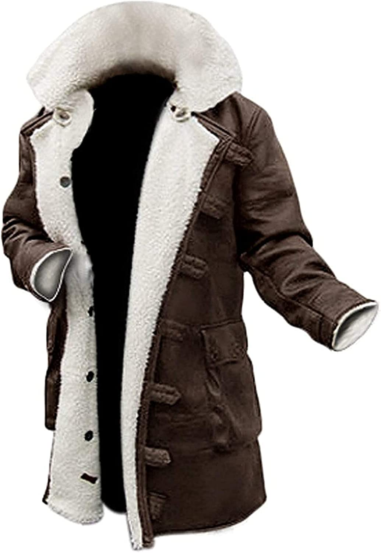 Decrum Shearling Real Leather Coats for Men - Swedish Bomber Leather Jacket Fur Coat