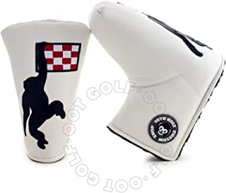 19th Hole Custom Shop Dancing Monkey Golf Headcover for Blade and Midsize Mallet Putter, White, Head Cover