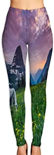 Cyloten Glacier National Park Yoga Pants Washable Legging Tights Quick Dry Sportswear for Women Girl Workout