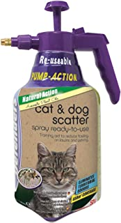 Defenders STV624 Cat & Dog Scatter Spray 1.5 Litre, Garden Cat Repeller, Pump Action Pressure Sprayer, Blue