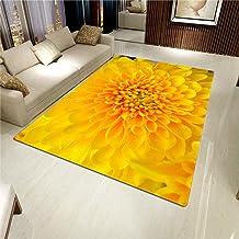 LHGBGBLN 3D Printing Carpet Golden Flower Stamen Bedroom Living Room Non-Slip mat Corridor Floor mat Door mat Flower Carpe...