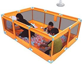 10 Panel Fence Toy Children's Play Fence Baby Crawling Mat Toddler Fence Safety Fence, for Indoor Outdoor is Sturdy Durable Suitable Boys Girls Carl Artbay (Color : Orange)