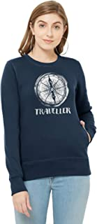 WYO Women's Full Sleeve Length Sweatshirt for Winter Wear with Graphic Print(Traveller Design)