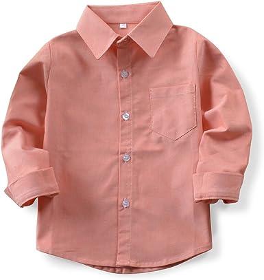 Phorecys - Camisa para niño de manga larga (algodón, para ...
