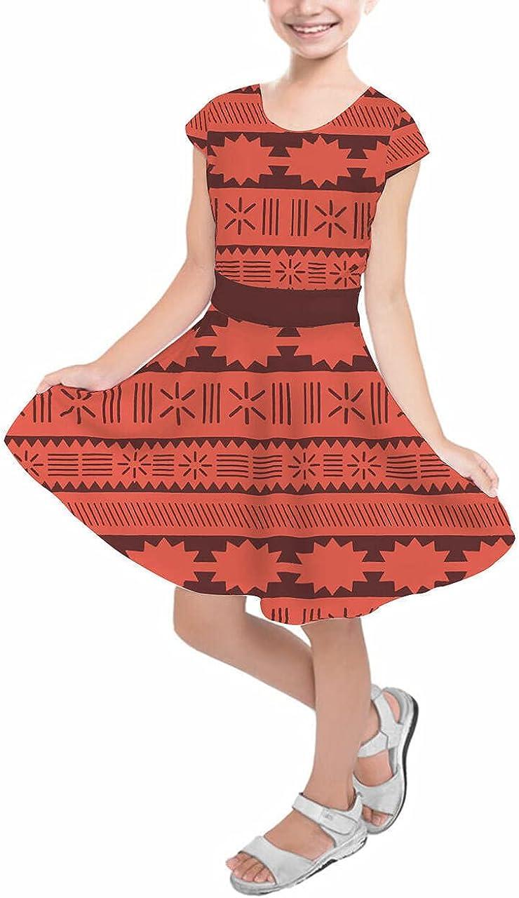 Rainbow Rules Girls Short Sleeve Skater Superlatite Moana Tribal Dress Pri - Financial sales sale