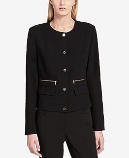 Calvin Klein Lux Button-Front Blazer