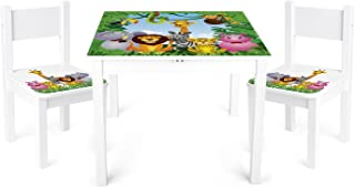 Children s Kids Toy Wooden Table and Chairs Set Leomark High Quality Motif  Jungle Animals