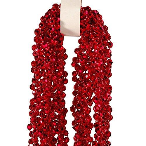Ghirlanda Perle 270 cm rosso