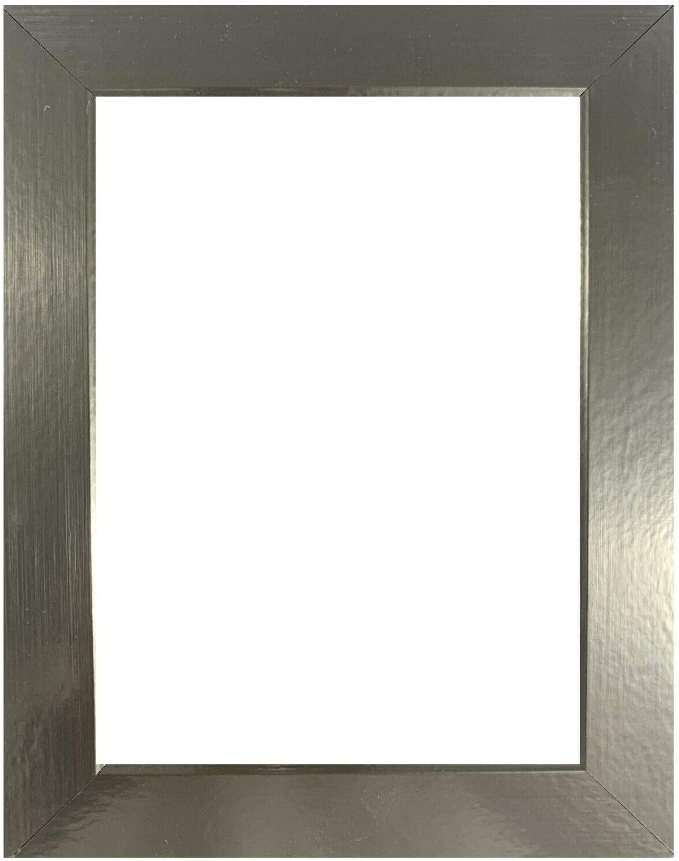 US Art Frames 13x17 Metallic ※ラッピング メーカー再生品 ※ Silver 1.25 Smooth Flat Inch Wrapp