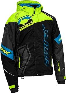 Castle X Code Men's Snowmobile Jacket - Black/Hi-Vis/Process Blue (2XL)