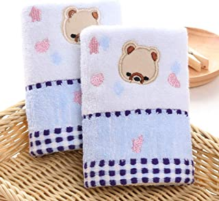 Sunbaby Kids Face Towel-100% Cotton, Blue, 2 Pieces