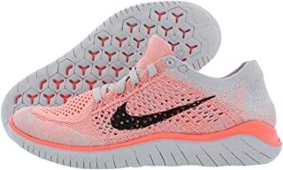 Nike Womens Free Rn Flyknit 2018 Low Top Lace Up Running, Orange, Size 9.5