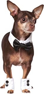 Official Rubie's Bowtie and Cuff Set Pet Costume Accessory, Large/X-Large