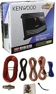 New Kenwood KAC-5001PS 1000W Mono D Car Amplifier Power Amp + 4 Gauge Amp Kit