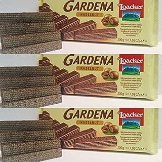 Loacker Gardena Milk Chocolate Wafer with Hazelnut Cream (3 Pack) - 200 gr each