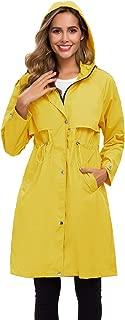 Avoogue Lightweight Raincoat for Women Waterproof Hooded Rain Jacket Outdoor Hiking Long Windbreaker