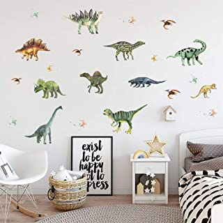 Supzone Cartoon Dinosaur Wall Decal Animal Cartoon Wall Sticker Vinyl Waterproof Wall Decor Dinosaur Wall Stickers for Nur...