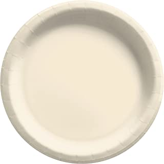 """Big Party Pack Vanilla Crème Paper Plates   9""""   Pack of 50   Party Supply"""